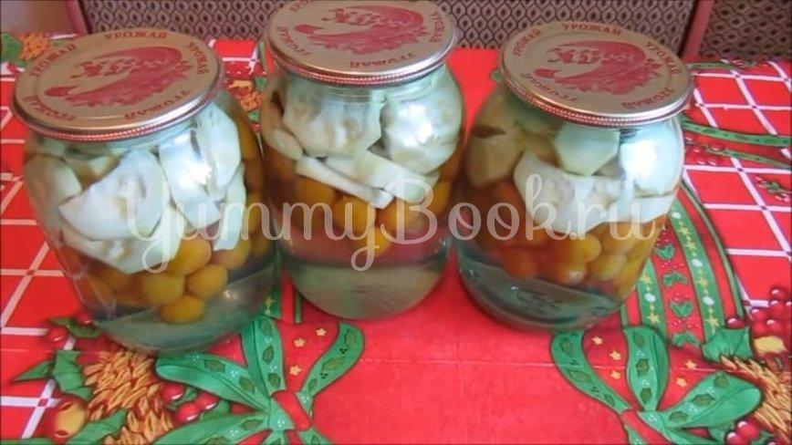 Кабачки с алычой «как ананасы»  - шаг 5