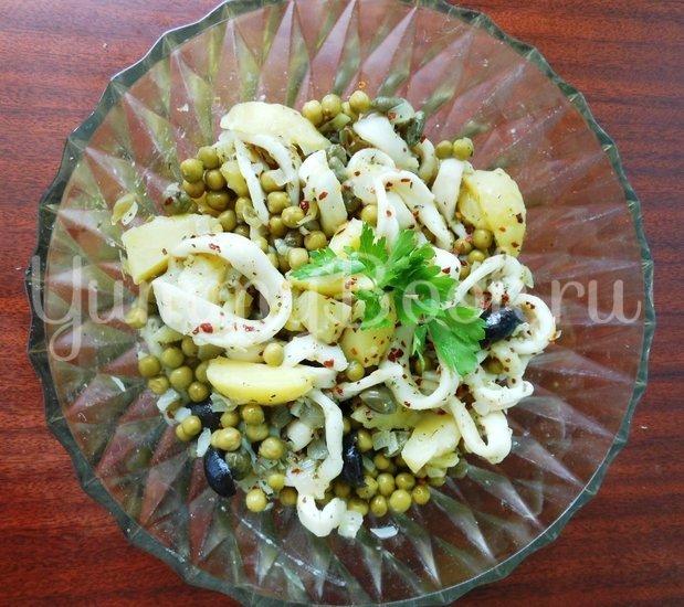 Тёплый салат с кальмарами - шаг 15