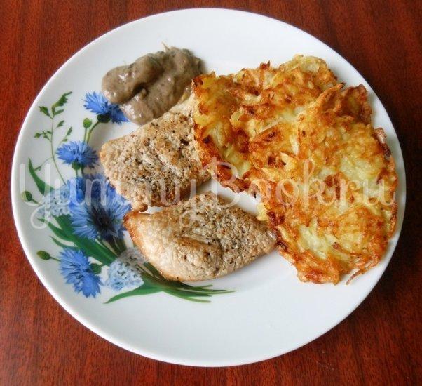 Драники с грибным соусом - шаг 20