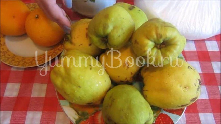 Варенье из айвы с апельсином - шаг 1
