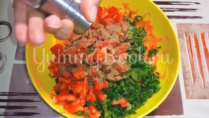 Квашеные баклажаны с морковью и сладким перцем - шаг 4