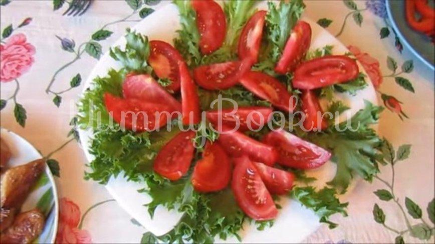 Теплый салат с курицей, помидорами и перцем - шаг 4