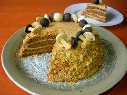Орехово-кофейный торт на День рождения