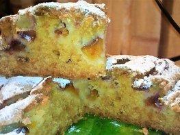 Пирог со сливами из пудингового теста
