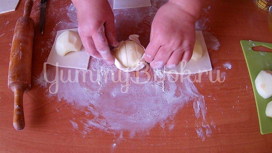 Открытые слойки с яблоками - шаг 2