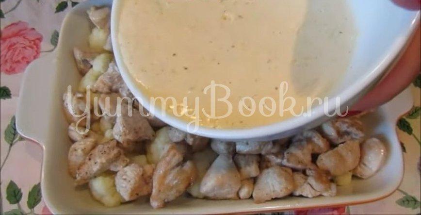 Курица с цветной капустой под сливочным соусом и сыром (в духовке) - шаг 5
