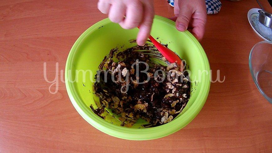 Шоколадный десерт из кукурузных хлопьев - шаг 2