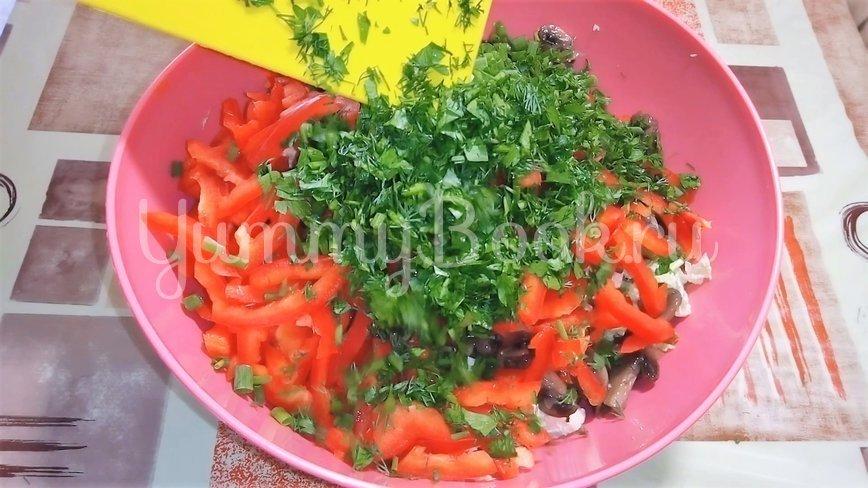 Салат из пекинской капусты с грибами и мясом - шаг 4