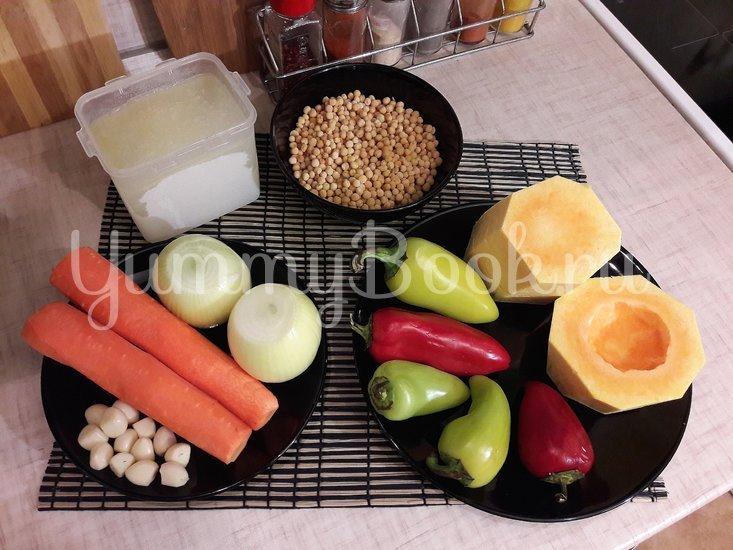 Овощной тыквенно-гороховый суп - шаг 1