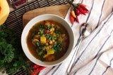Овощной тыквенно-гороховый суп