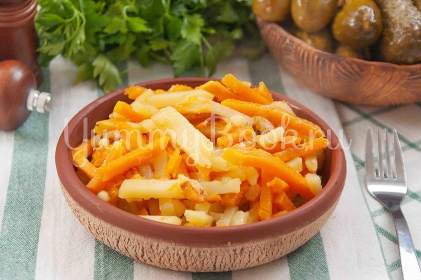 Жареный картофель с тыквой