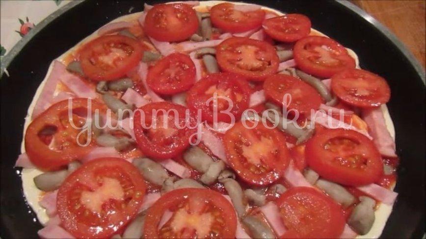 Пицца на сковороде за 10 минут - шаг 4