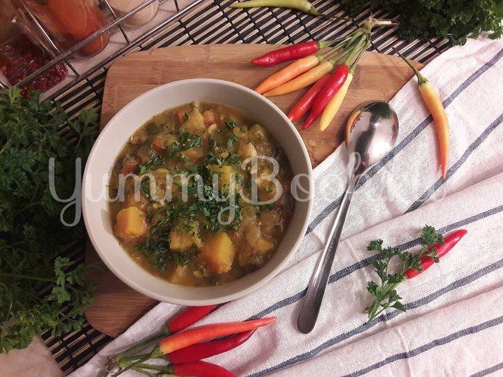 Тыквенно-чечевичный суп с копчёной курицей - шаг 13