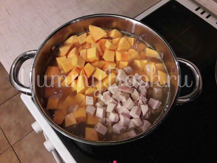 Тыквенно-чечевичный суп с копчёной курицей - шаг 7