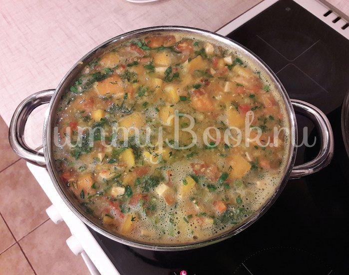 Тыквенно-чечевичный суп с копчёной курицей - шаг 12