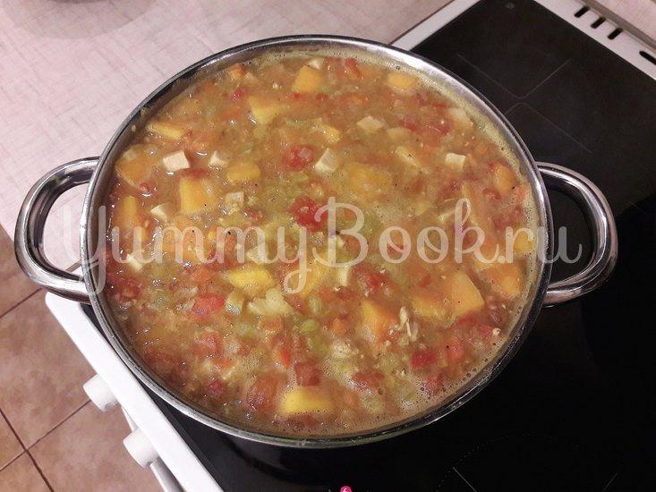 Тыквенно-чечевичный суп с копчёной курицей - шаг 11