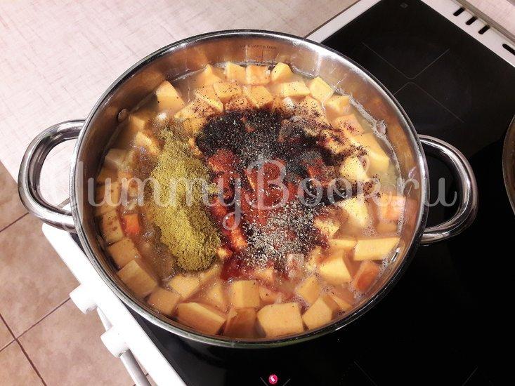Тыквенно-чечевичный суп с копчёной курицей - шаг 8