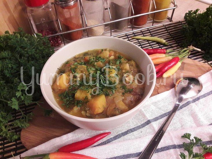 Тыквенно-чечевичный суп с копчёной курицей - шаг 14