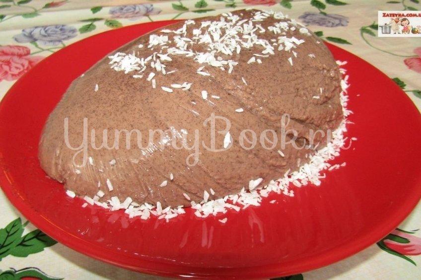 Шоколадно-сметанный десерт