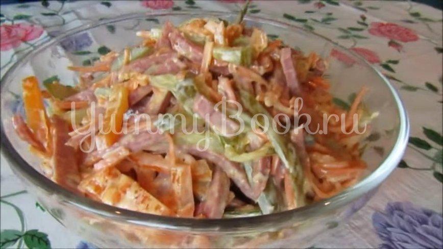 Салат с копченой колбасой и морковью по-корейски - шаг 3
