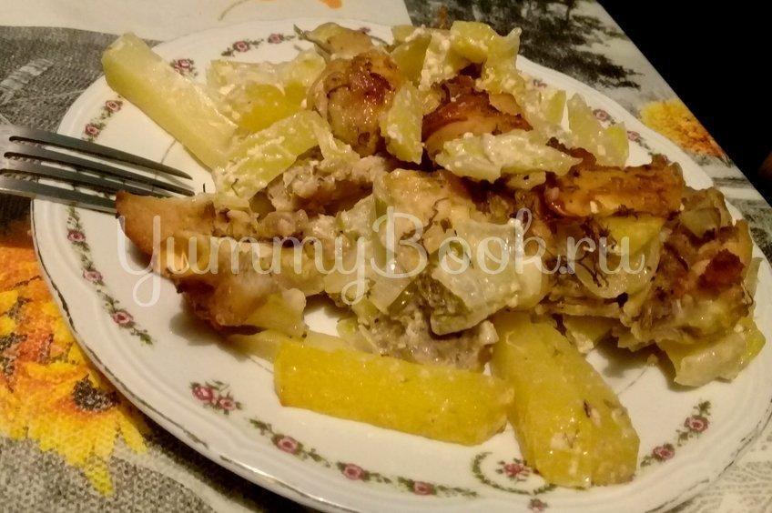 Картошка с курицей в рукаве (в духовке)