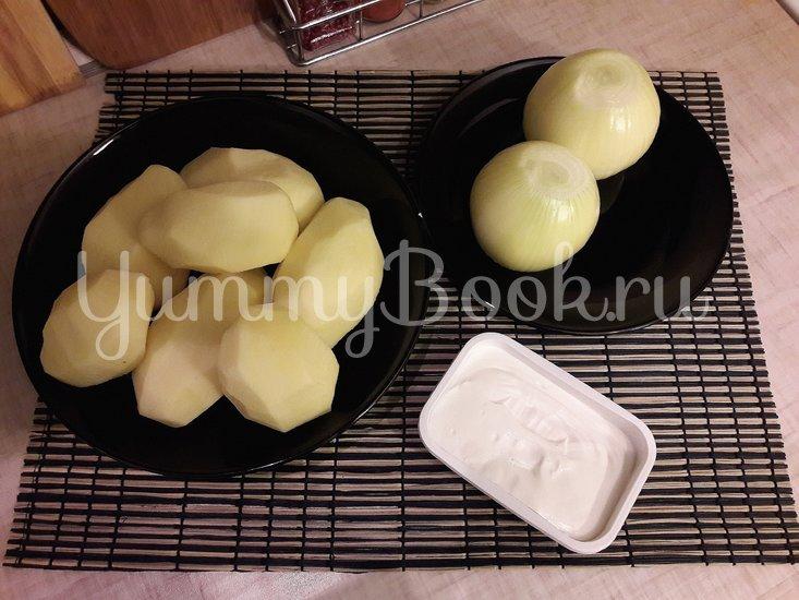 Картофельная запеканка с луком и фетой - шаг 1