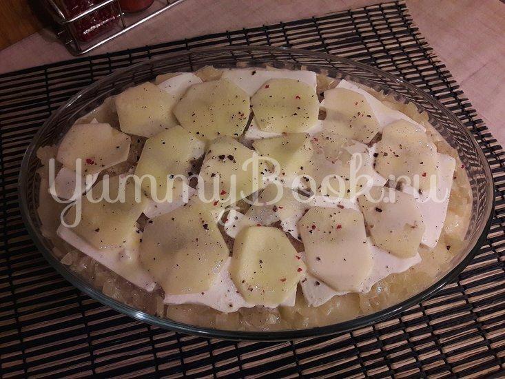 Картофельная запеканка с луком и фетой - шаг 8