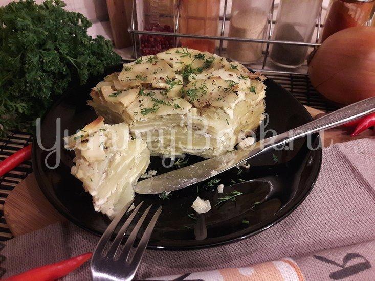 Картофельная запеканка с луком и фетой - шаг 12