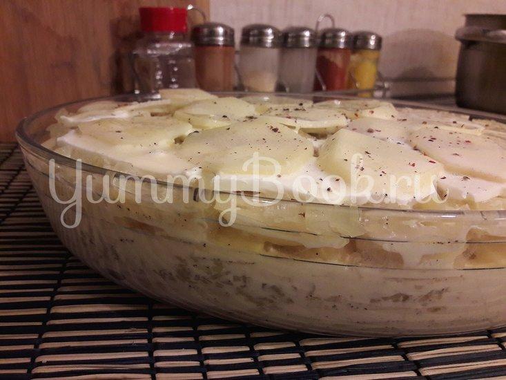 Картофельная запеканка с луком и фетой - шаг 9