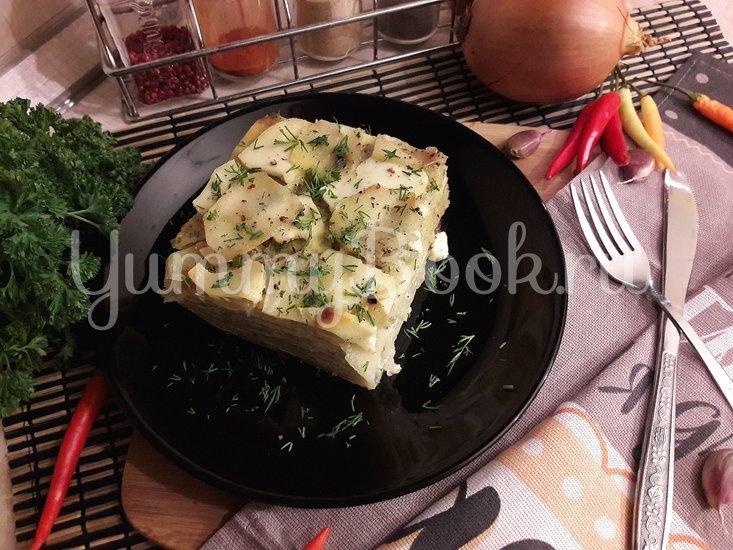 Картофельная запеканка с луком и фетой - шаг 11