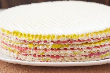 Вафельный торт с желейно-сметанным кремом - шаг 6