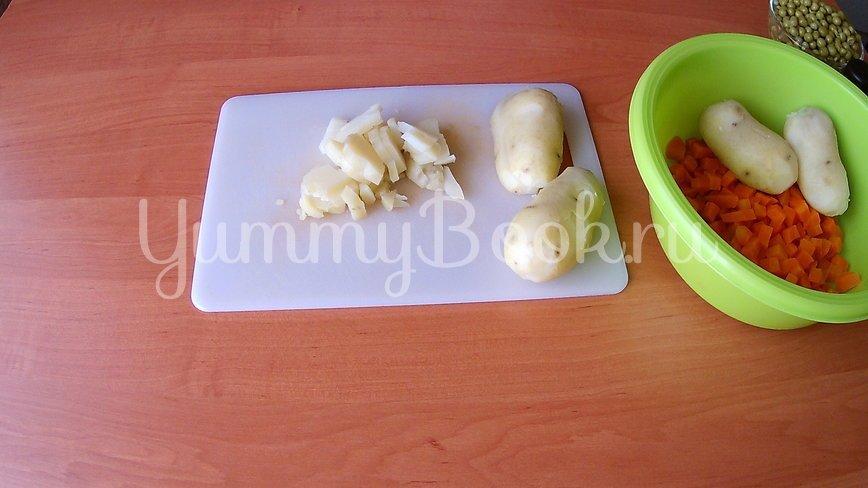 Постный салат с квашеной капустой - шаг 2