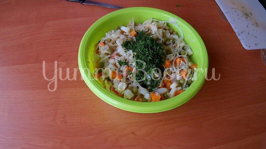 Постный салат с квашеной капустой - шаг 5
