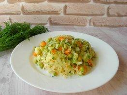 Постный салат с квашеной капустой