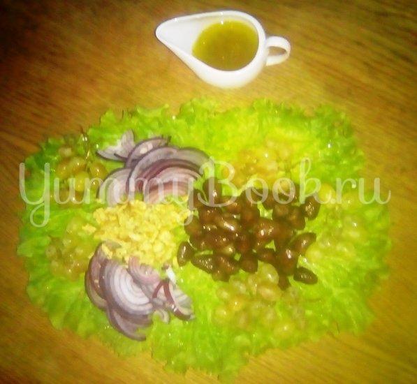 Тёплый салат из куриных сердечек - шаг 8