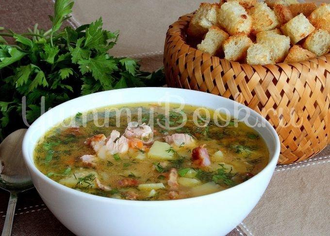 Гороховый суп с копчёной курочкой в мультиварке