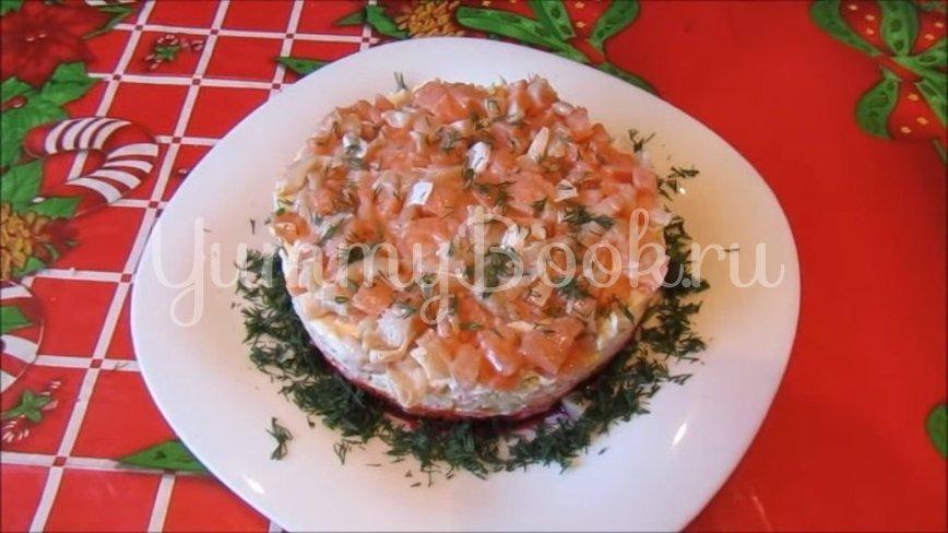 Слоеный салат «Лосось на шубе» - шаг 4