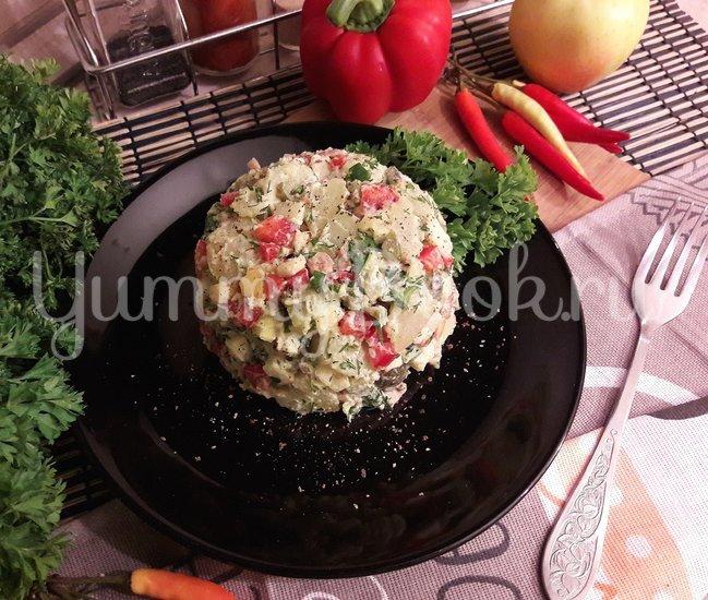 Картофельный салат с беконом и яблоком  - шаг 7
