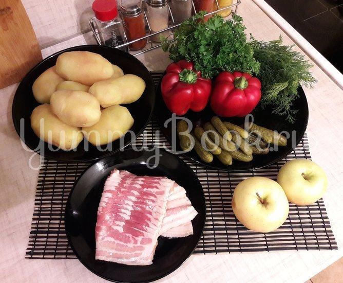 Картофельный салат с беконом и яблоком  - шаг 1