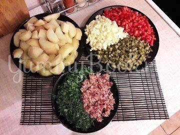 Картофельный салат с беконом и яблоком  - шаг 3