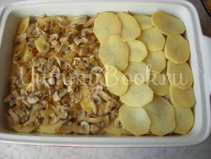 Картофельная запеканка с шампиньонами - шаг 6