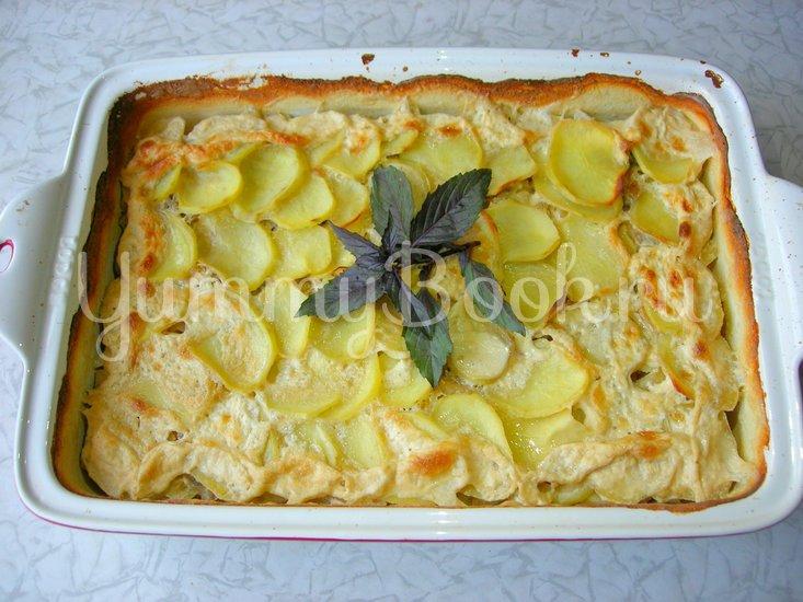 Картофельная запеканка с шампиньонами - шаг 7