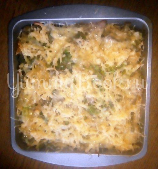 Запеканка из макарон с брокколи, стручковой фасолью и грибами - шаг 11