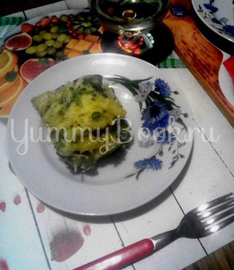Запеканка из макарон с брокколи, стручковой фасолью и грибами - шаг 12