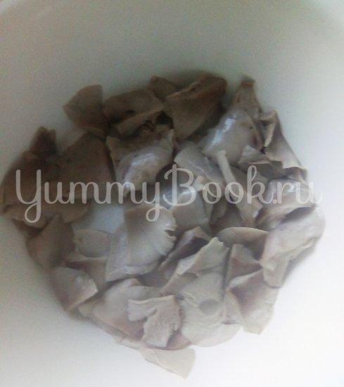 Запеканка из макарон с брокколи, стручковой фасолью и грибами - шаг 3