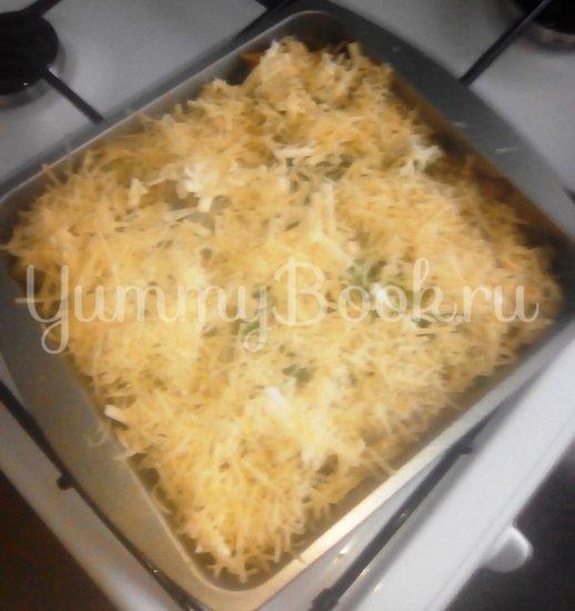 Запеканка из макарон с брокколи, стручковой фасолью и грибами - шаг 10