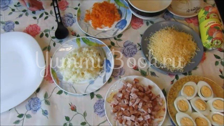 Новогодний салат «Сугробы» - шаг 2