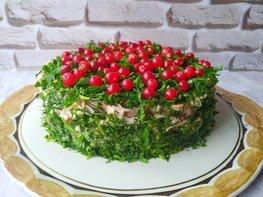 Слоеный салат «Сосновый бор»