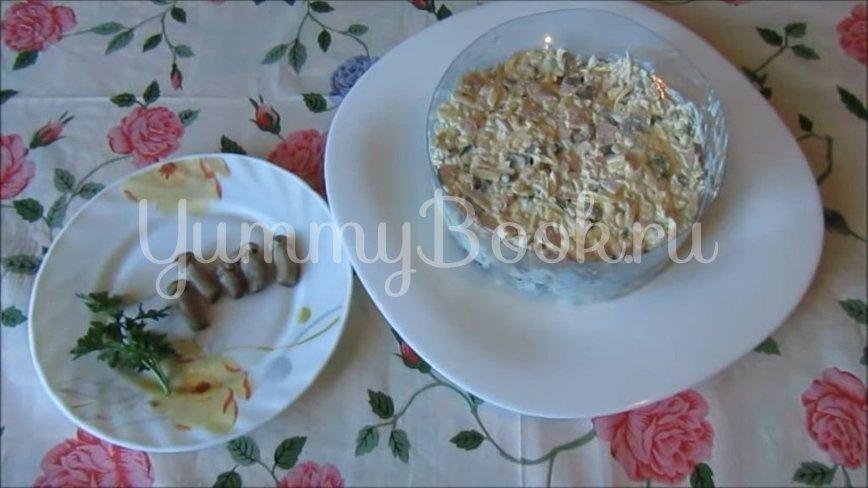 Салат с ветчиной, грибами и сыром - шаг 3