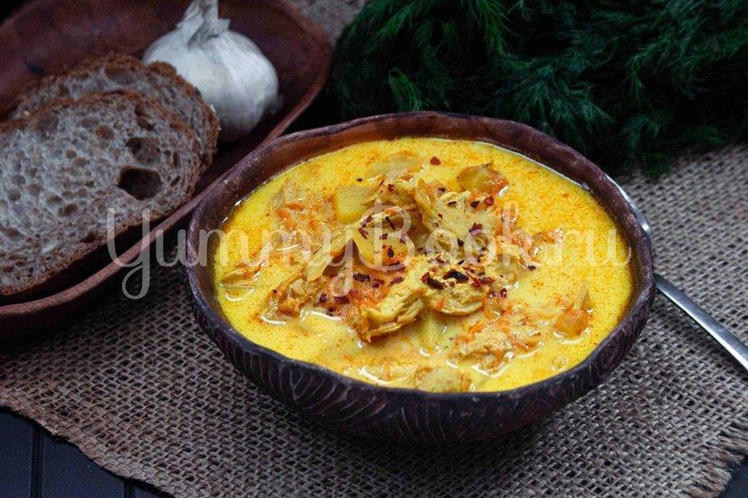 Куриный суп карри - шаг 8